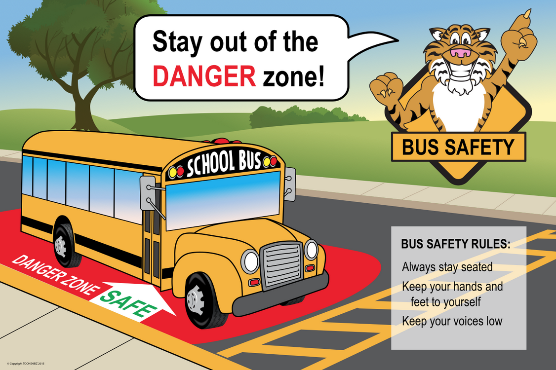 We can put your school mascot on this bus safety poster. Give us the rules for your PBIS program and we'll incorporate them into the design.