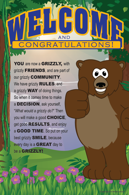 Grizzly Welcome Posters