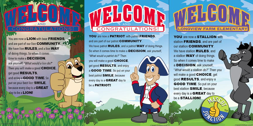 PBIS Poster Ideas Lion Patriot Stallion Mascot