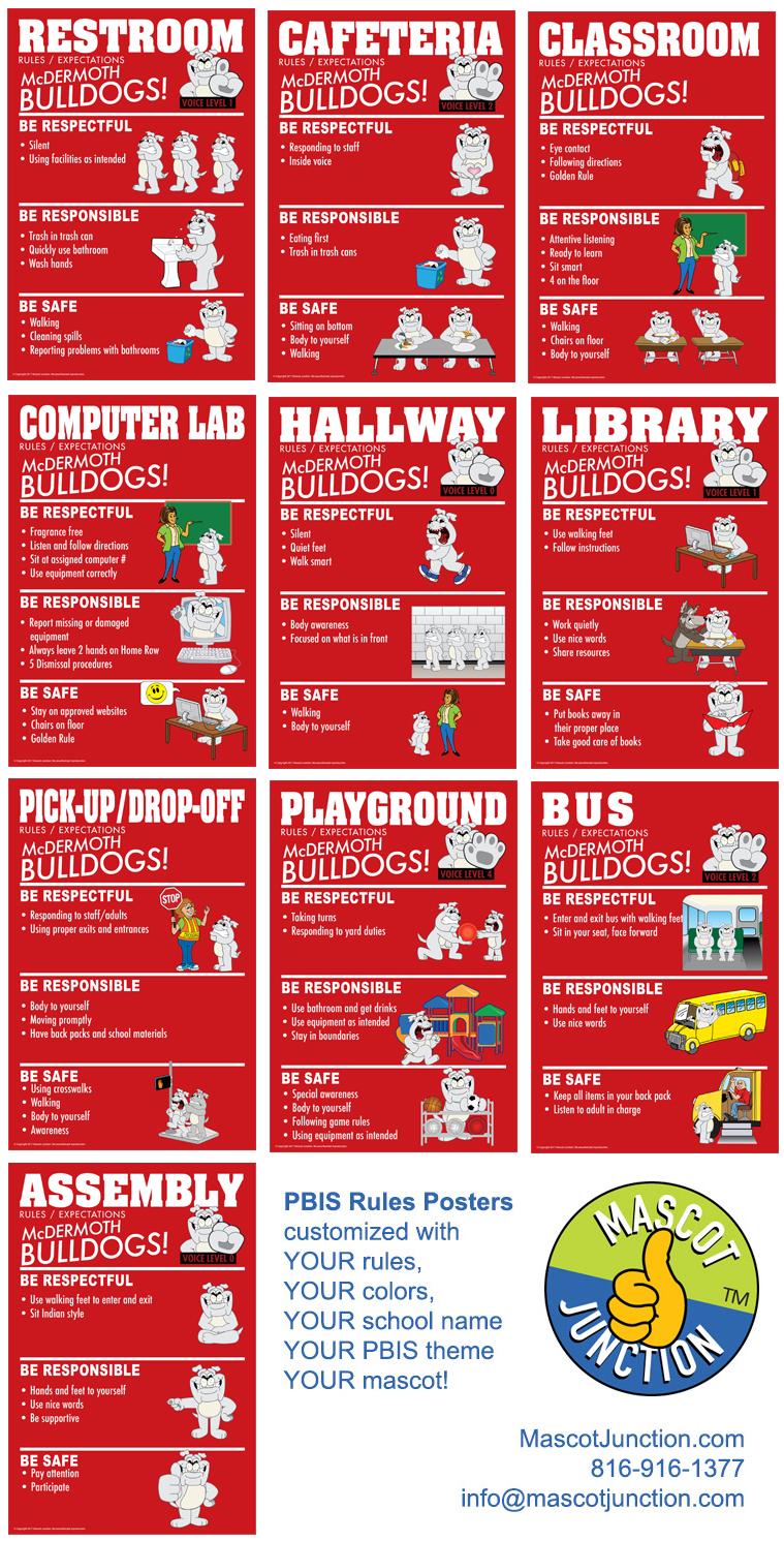 PBIS Rules Posters Bulldog